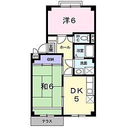 福岡県北九州市八幡西区浅川学園台4丁目の賃貸アパートの間取り