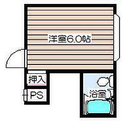 菅栄町レディースマンション[4階]の間取り