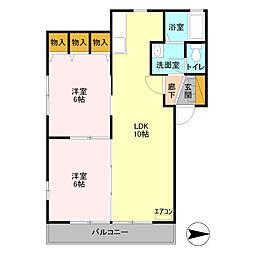 サンハイツ 紫陽花館[2階]の間取り