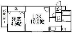 北海道札幌市南区澄川一条3丁目の賃貸マンションの間取り