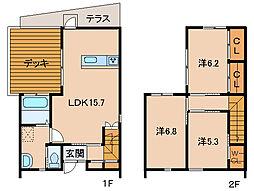 アンソレーユ平井[1階]の間取り