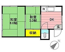 松井荘[203号室]の間取り