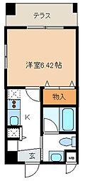 レジディア新川[402号室]の間取り