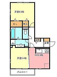 モアサンハイム[3階]の間取り