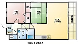 パレーシャル21[3階]の間取り
