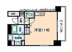 レジェンドール大阪天満 G-レジデンス[5階]の間取り
