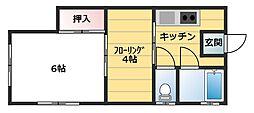 大丸荘[1階]の間取り