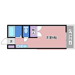 ハイツエクシードII[1階]の間取り