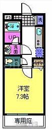 大阪府堺市西区神野町2丁の賃貸アパートの間取り