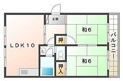 守口コーポ[4階]の間取り