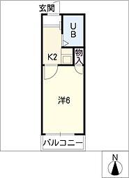 カーサ神宮西[1階]の間取り