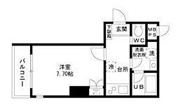 メルサーカワサキ[301号室]の間取り