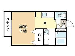 コーポ桑ノ木[2階]の間取り