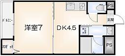 セミュ川内II[211号室]の間取り