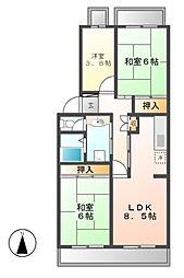 アーバンドエル茶屋ヶ坂[4階]の間取り