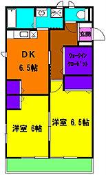 静岡県浜松市中区茄子町の賃貸アパートの間取り