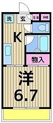 平野ハイツ[307号室]の間取り