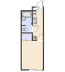 レオパレスグランドール若狭[215号室]の間取り