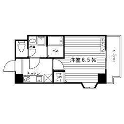 Osaka Metro谷町線 太子橋今市駅 徒歩4分の賃貸マンション 8階1Kの間取り