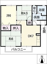 ビーチブリーズIII[2階]の間取り