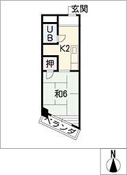 オリエントビル[4階]の間取り
