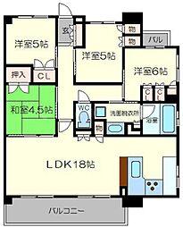 ブランズ新大阪[14階]の間取り