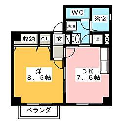 小川ハイツ[4階]の間取り