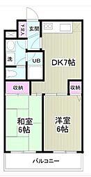 神奈川県座間市相模が丘5丁目の賃貸マンションの間取り