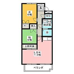 ハウスパンドビュー[2階]の間取り