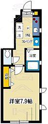 東京都目黒区自由が丘3丁目の賃貸アパートの間取り