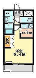 静岡県三島市沢地の賃貸アパートの間取り