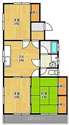 黒嵜アパート[2階]の間取り
