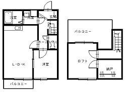 長崎県長崎市東小島町の賃貸アパートの間取り