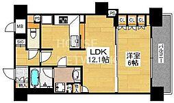 リーガル京都四条烏丸II[206号室号室]の間取り