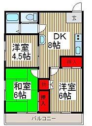 埼玉県志木市本町4丁目の賃貸マンションの間取り