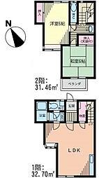 [テラスハウス] 神奈川県藤沢市亀井野 の賃貸【/】の間取り