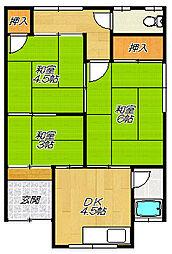 [テラスハウス] 大阪府大東市氷野3丁目 の賃貸【/】の間取り