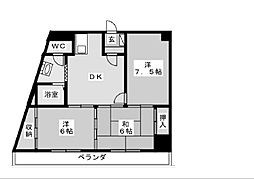名線鋼業ビル[8階]の間取り
