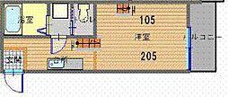 ハピネス住吉[2階]の間取り