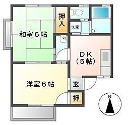 メゾン吉原[2階]の間取り