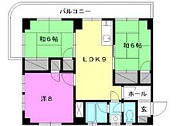 空港マンション[707 号室号室]の間取り