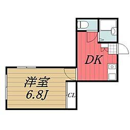 千葉県千葉市中央区椿森2丁目の賃貸マンションの間取り