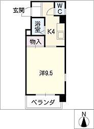 サンライフ有楽[8階]の間取り