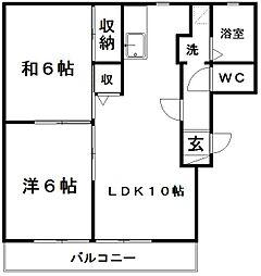 ベルタウンA[2階]の間取り