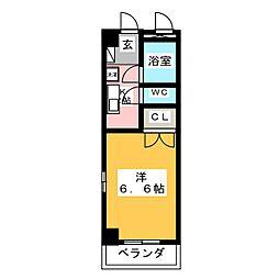 ハイツ神田[1階]の間取り