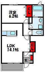 Sun Loop A[1階]の間取り