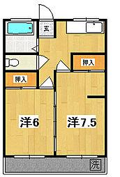 助川マンション[201号室]の間取り