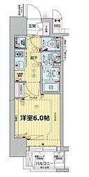プレサンス新大阪コアシティ[5階]の間取り