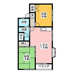 セゾンアサイ A棟[2階]の間取り