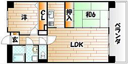 菊竹ビル金鶏[1階]の間取り
